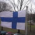 drapeau au vent pour la fête nationale